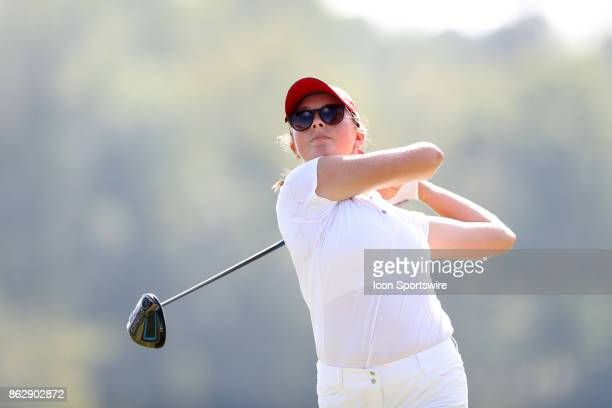 State's Laura Kowohl on the 1st tee during the third and final round of the Ruth's Chris Tar Heel Invitational Women's Golf Tournament on October 15...