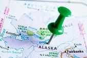 USA states on map: Alaska