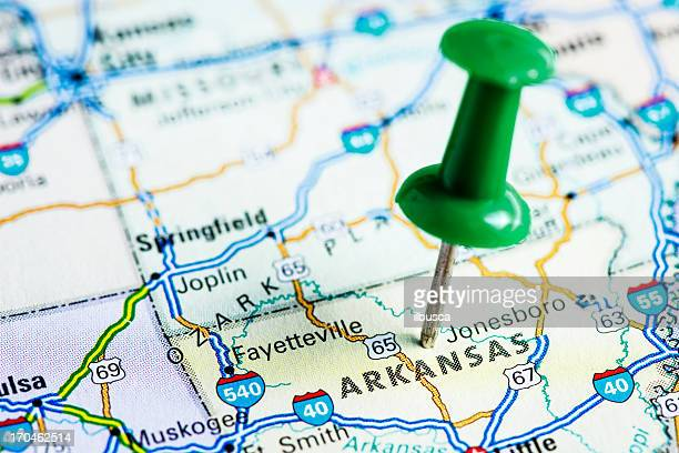 USA states on map: Arkansas