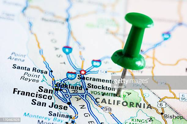 USA states on map: California