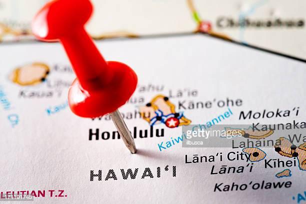 USA states on map: Hawaii