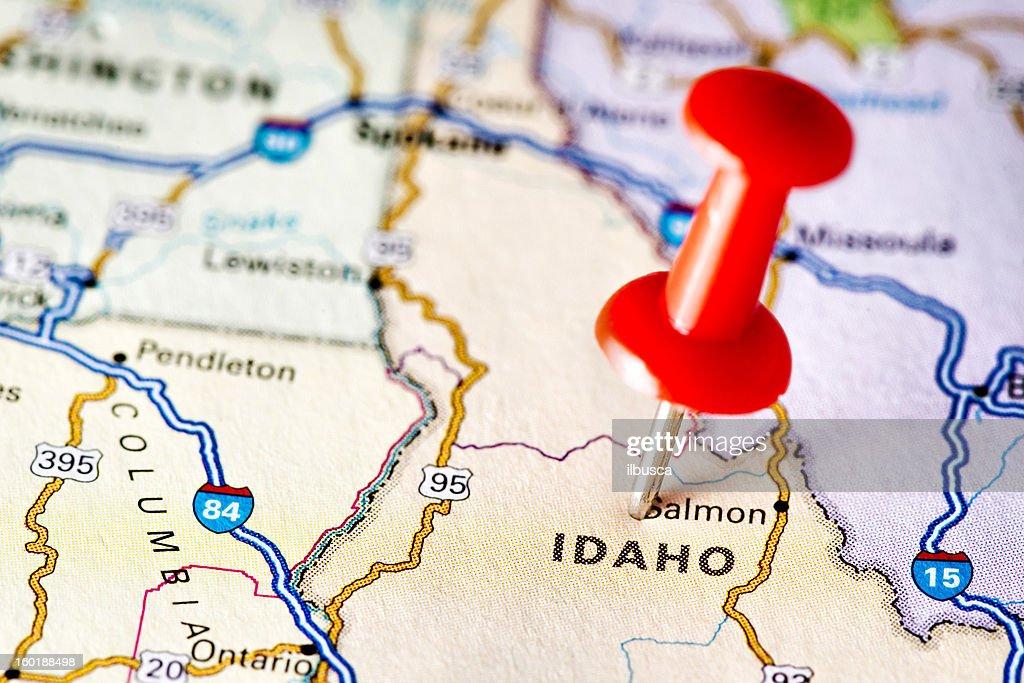 USA states on map: Idaho