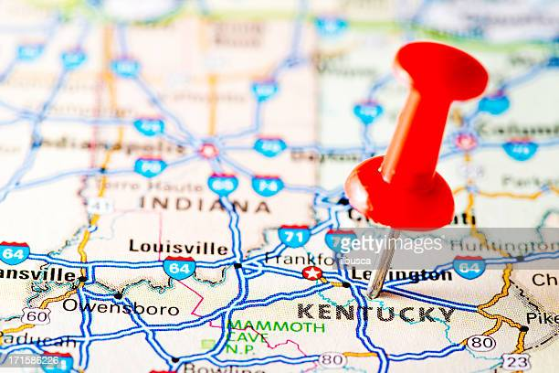 USA states on map: Kentucky