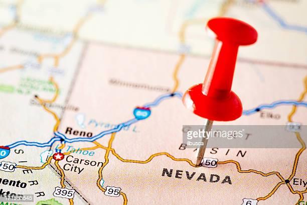 USA states on map: Nevada