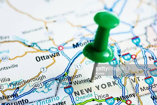USA Staaten auf der Karte: New York