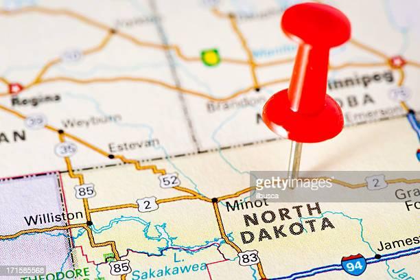 USA states on map: North Dakota