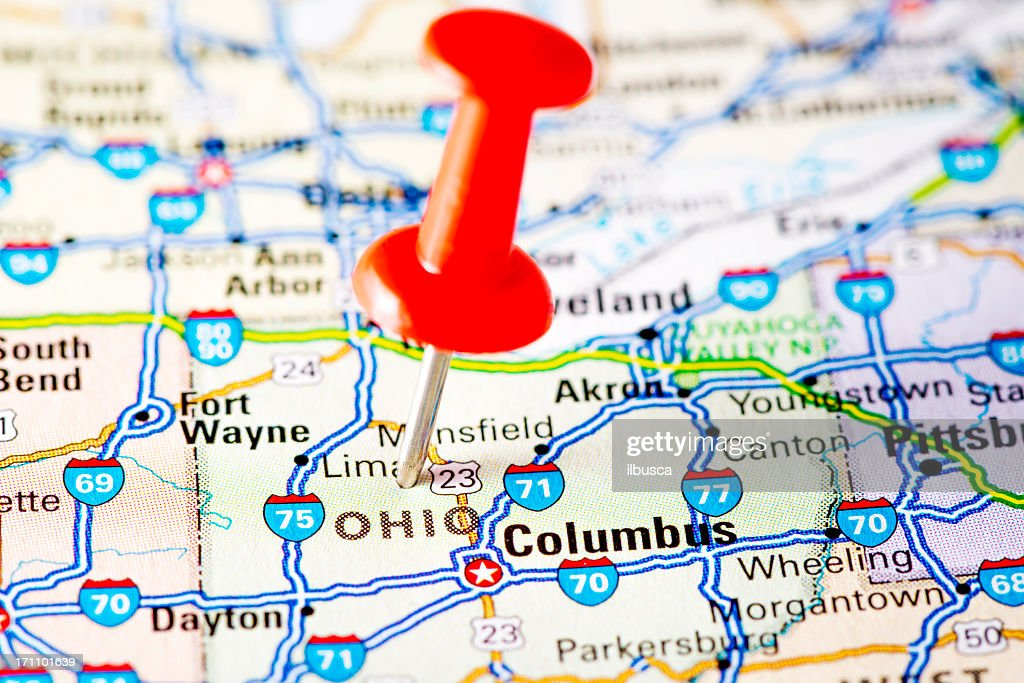 Columbus Map Ohio Usa Stock Photo Getty Images - Ohio usa map
