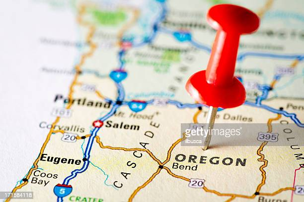 USA states on map: Oregon