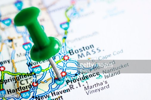 Us Capital Cities On Map Series Providence Rhode Island Ri Stock - Usa map rhode island