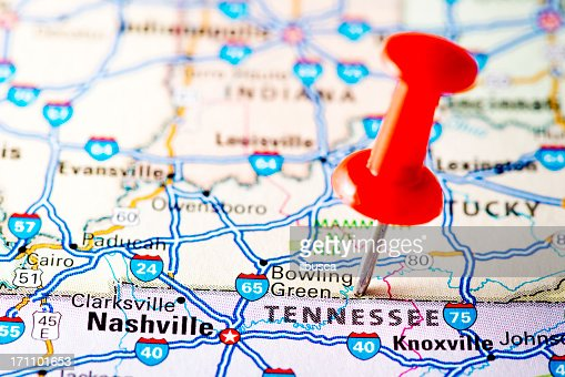 Us Capital Cities On Map Series Nashville Tennessee Tn Stock Photo - Tennessee in usa map