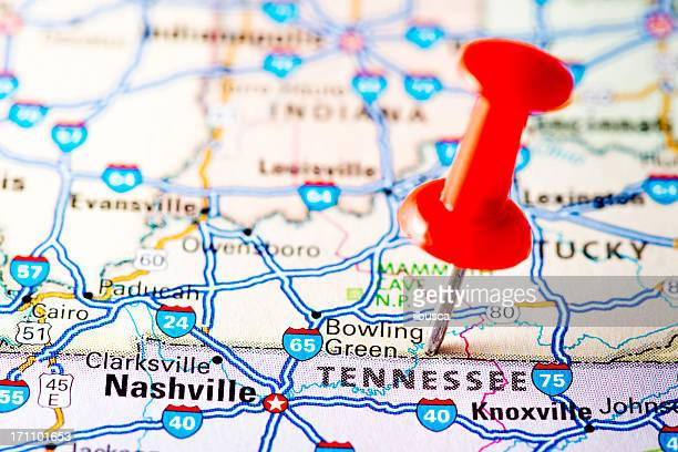 USA states on map: Tennessee