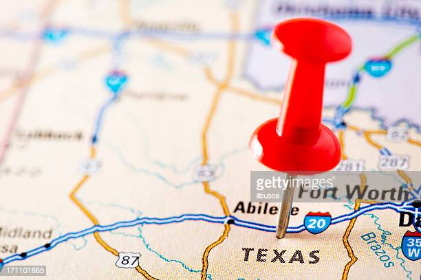 USA states on map: Texas