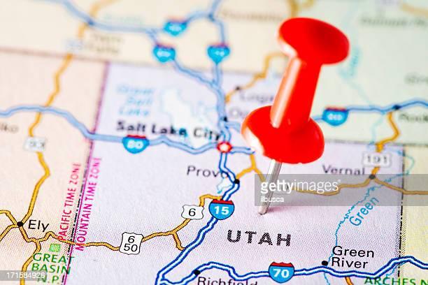 USA states on map: Utah