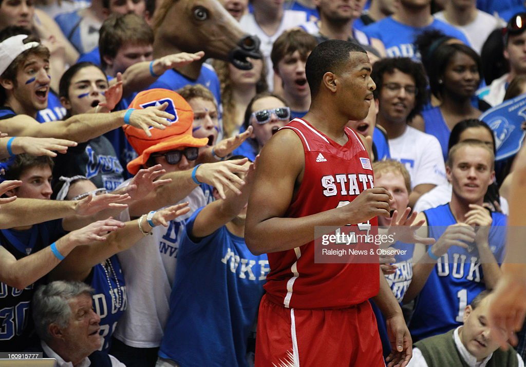 N.C. State's T.J. Warren (24) waits to inbound the ball during the first half against Duke at Cameron Indoor Stadium in Durham, North Carolina, Thursday, February 7, 2013.