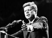 US statesman John F Kennedy 35th president of the USA making a speech