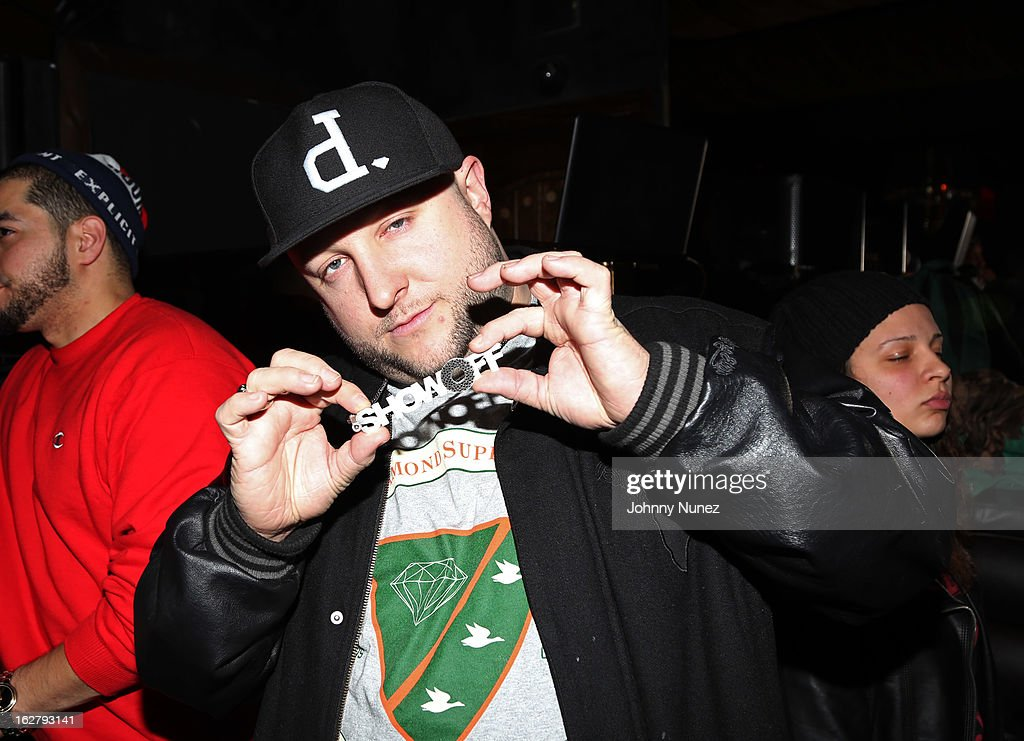 Statik Selektah attends GETLIVE! With Max Glazer And Statik Selektah at Lil Charlie's on February 26, 2013 in New York City.