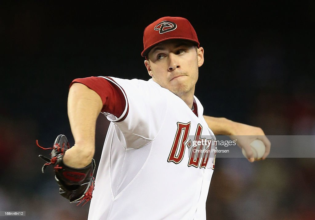 Stating pitcher Patrick Corbin #46 of the Arizona Diamondbacks pitches against the Philadelphia Phillies during the MLB game at Chase Field on May 9, 2013 in Phoenix, Arizona.