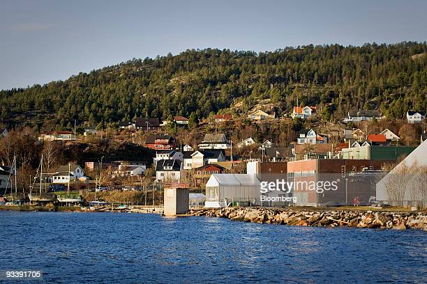 Statkraft's prototype of the world's first osmotic power station sits by the sea in Tofte Norway on Tuesday Nov 24 2009 Statkraft SF Europe's largest...