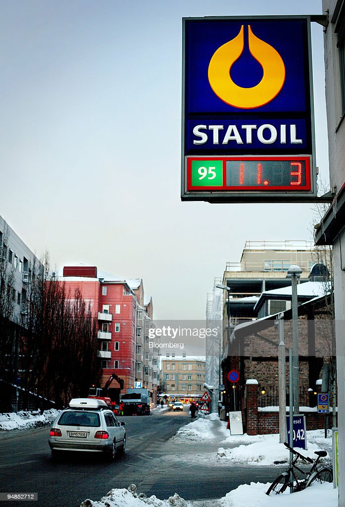 Statoil gas station is seen in Oslo Norway Monday February 13 2006 Statoil ASA Norway's largest oil company closed the Statfjord A platform in the...