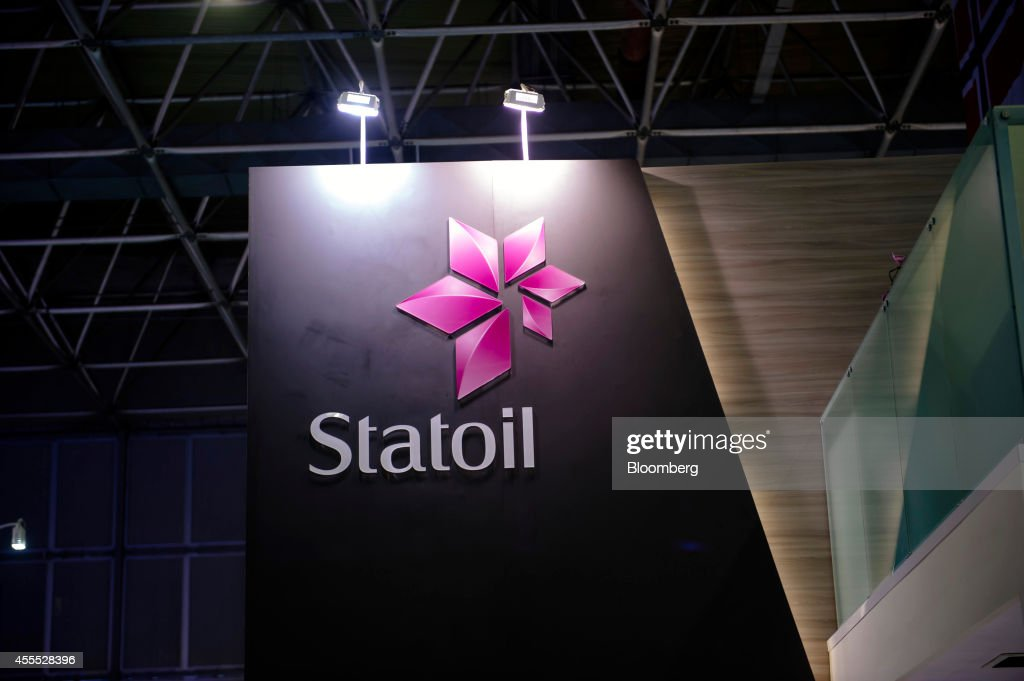 A Statoil logo sits on display at the Statoil ASA trade stand during the Rio Oil Gas 2014 Expo and Conference in Rio de Janeiro Brazil on Monday Sept...