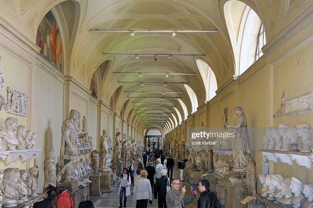 Statue gallery in Vatican Museum.