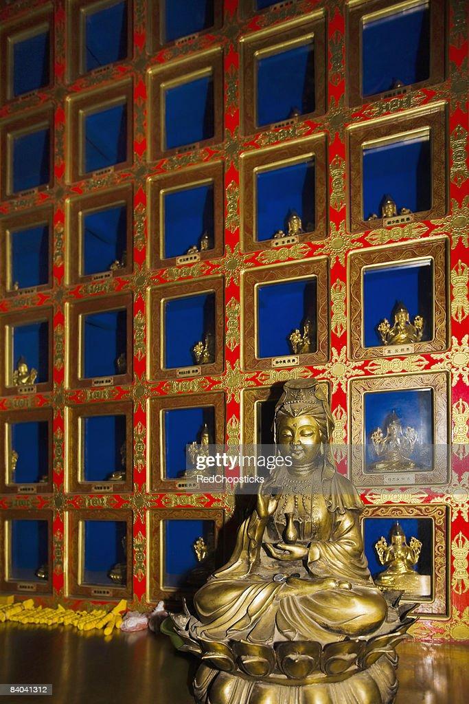 Statue in a temple, Da Zhao Temple, Hohhot, Inner Mongolia, China : Stock Photo