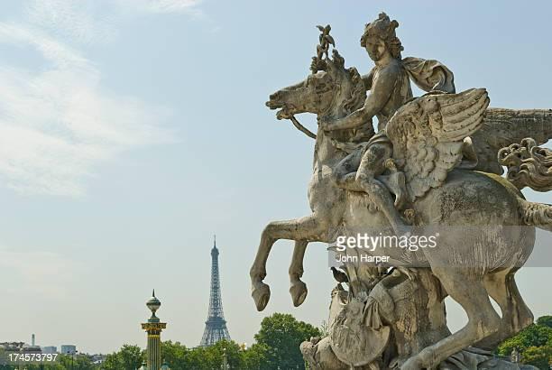 Statue in Jardin des Tuileries, Paris, France