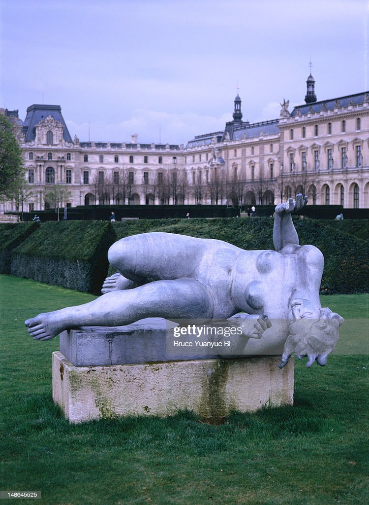 statue in jardin des tuileries stock photo getty images. Black Bedroom Furniture Sets. Home Design Ideas