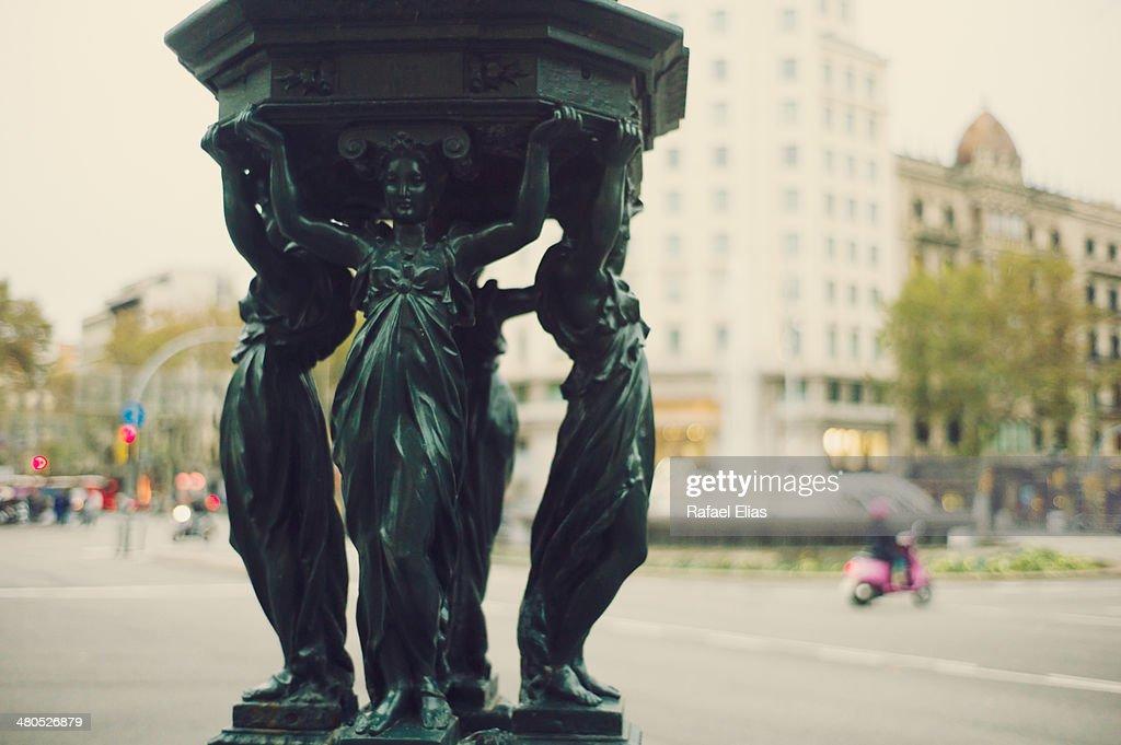 Statue in street : Stock Photo