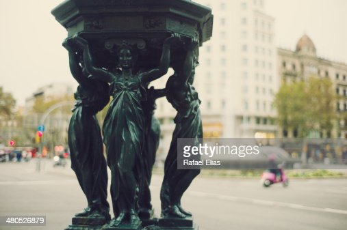 Statue in street : Stock Photo