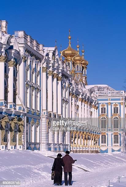 Statue in the garden of Catherine Palace 17521756 Tsarskoye Selo Pushkin near Saint Petersburg Russia 18th century