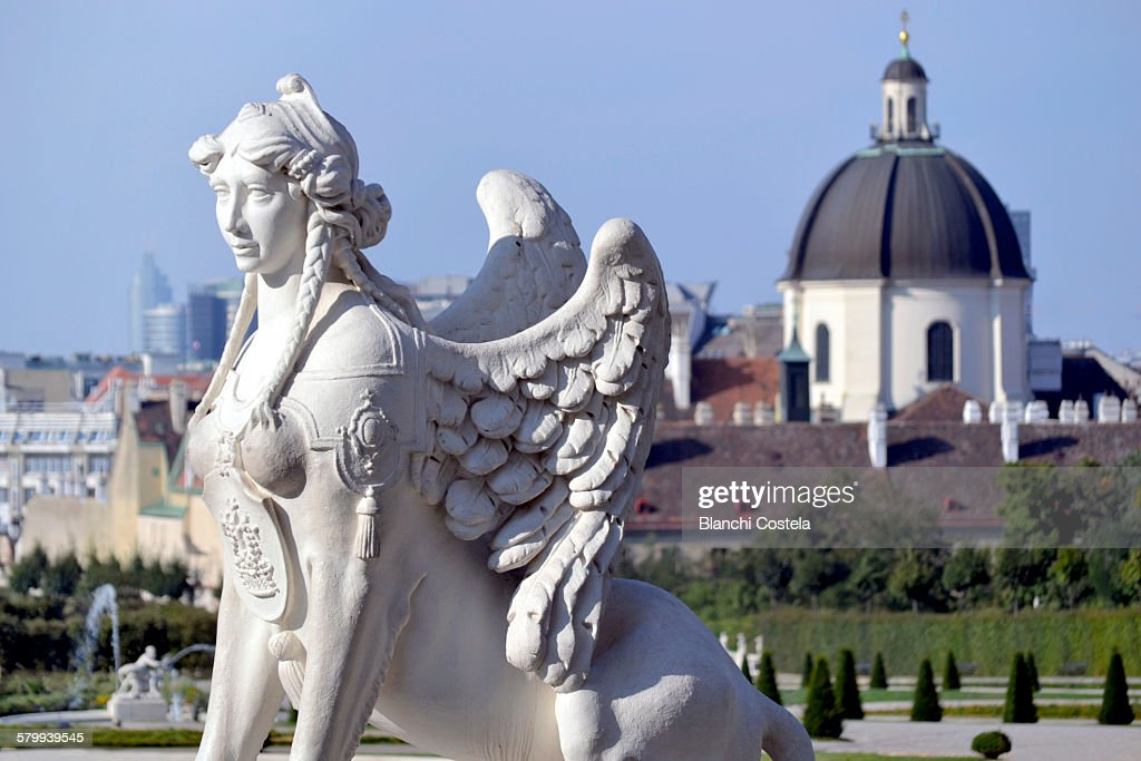 Statue in the gardens of Belvedere Palace
