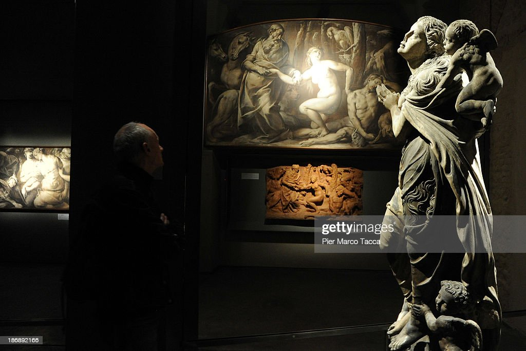 A statue is displayed during the opening exhibition of new Grande Museo del Duomo on November 4, 2013 in Milan, Italy.The opening of the new Grande Museo of Duomo in Palazzo Reale: 27 showrooms, 2000 square meters, 13 thematic areas where the most important treasures of Fabbrica del Duomo are preserved.