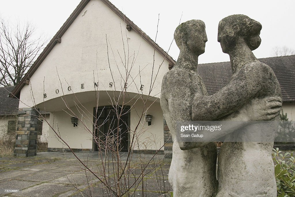 A statue, most likely erected after World War II, stands outside the former Waldhof am Bogensee, the former weekend house of Nazi propaganda minister and close Adolph Hitler associate Joseph Goebbels, at Bogensee Lake February 5, 2007 north of Berlin, Germany. The house sits on the estate of a former East German, communist-era political training school, and the city of Berlin, which owns the entire property, has begun the process of selling the estate, including Goebbels' former house. The house, which includes a movie theatre, a ballroom with windows that can disappear mechanically into the ground, and a nearby bunker, was built for Goebbels in 1939. Goebbels used the house frequently to entertain guests, including the Czech actress Lida Baarova, with whom he a had a passionate affair until Hitler had her expelled. City officials hope to finalize the sale of the property by 2008.