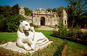 Statue of a lioness and a cub, Dolmabahce Palace, Istanbul, Turkey