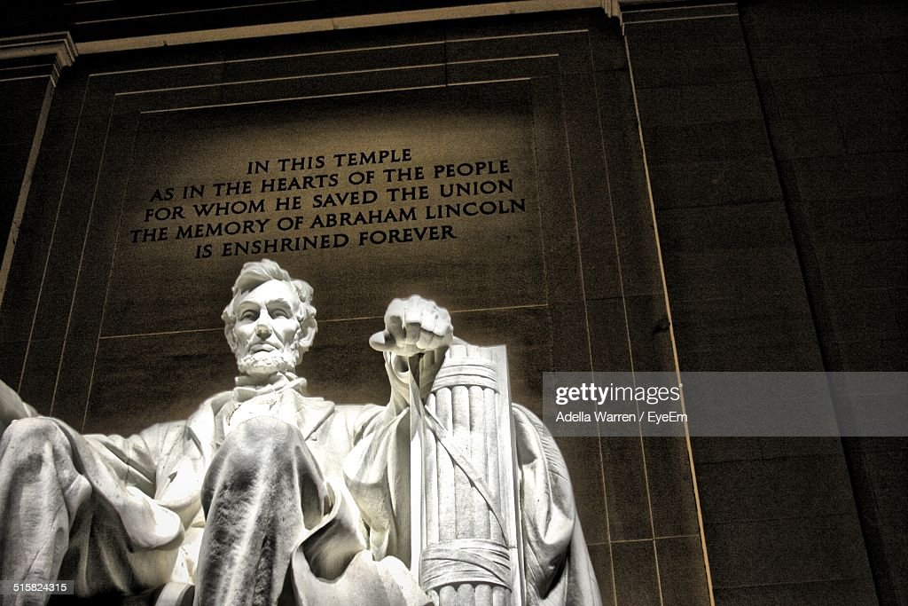 Statue Of Abraham Lincoln At Lincoln Memorial
