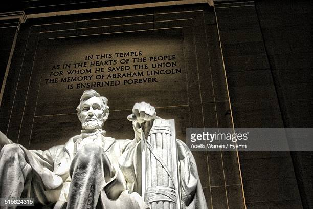 Estatua de Abraham Lincoln en Lincoln Memorial