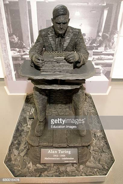 Statue of Alan Turing Bletchley Park London England