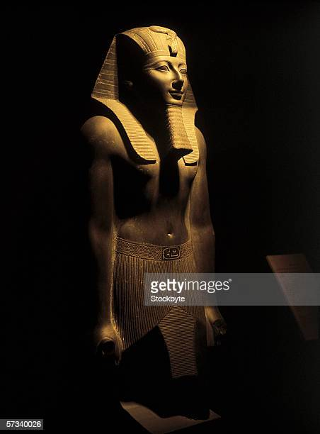statue of an Egyptian pharaoh (toned)
