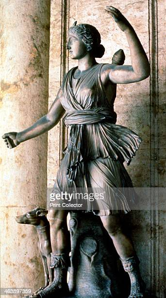 Statue of Artemis Greek goddess of hunting woodlands and fertility Artemis was known as Diana in the Roman pantheon