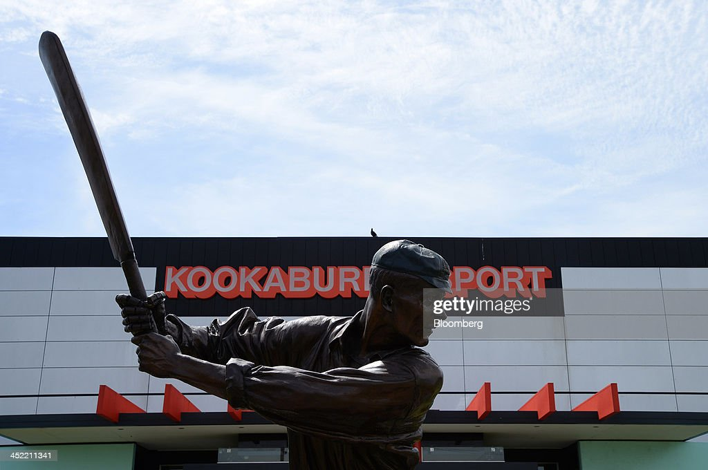 A statue of Australian cricketer Victor Thomas Trumper stands outside the Kookaburra Sports Pty Ltd. plant in Melbourne, Australia, on Tuesday, Nov. 26, 2013. Australian businesses need to boost efficiency to maintain growth in living standards, Reserve Bank of Australia Deputy Governor Philip Lowe said. Photographer: Carla Gottgens/Bloomberg via Getty Images