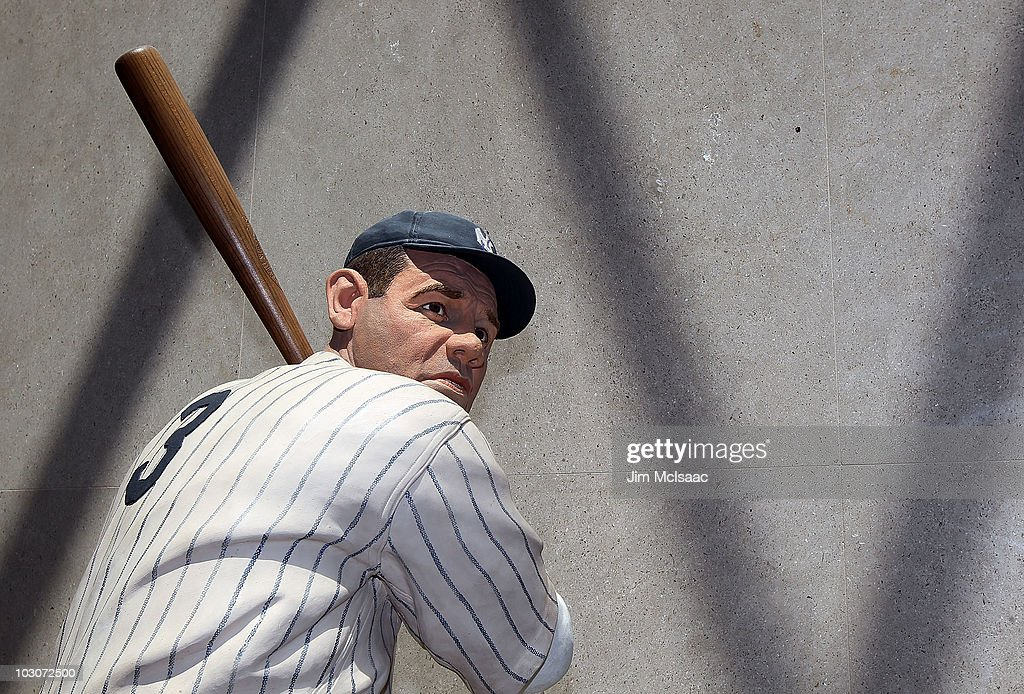 A statue of Babe Ruth is seen at the Baseball Hall of Fame and Museum during induction weekend on July 24, 2010 in Cooperstown, New York.