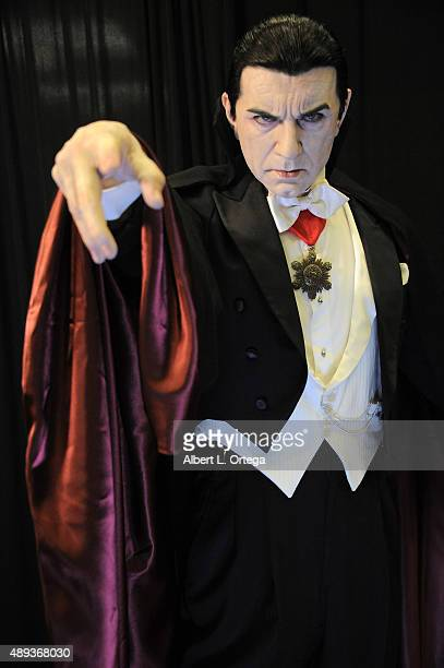 A statue of Bela Lugosi's Dracula by artist Mike Hill on display at the Son Of Monsterpalooza Convention held at Los Angeles Marriott Burbank Airport...