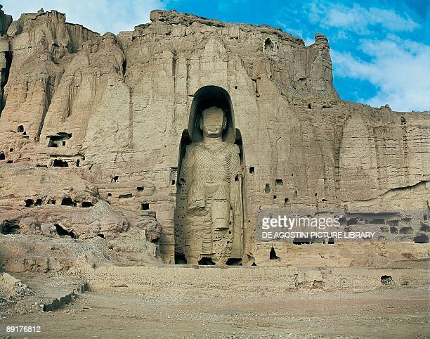 Statue of Buddha carved in a rock formation Bamyan Hazarajat Region Afghanistan