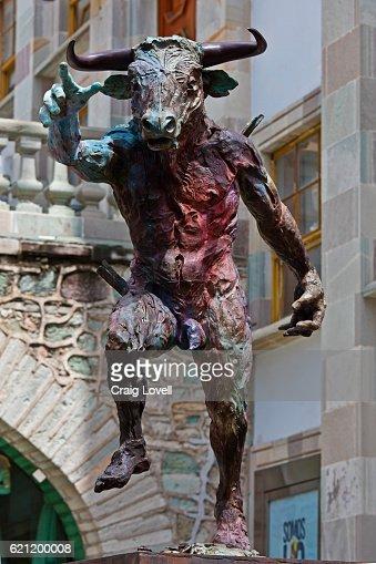 Statue of bull in front of the University of Guanajuato - GUANAJUATO, MEXICO