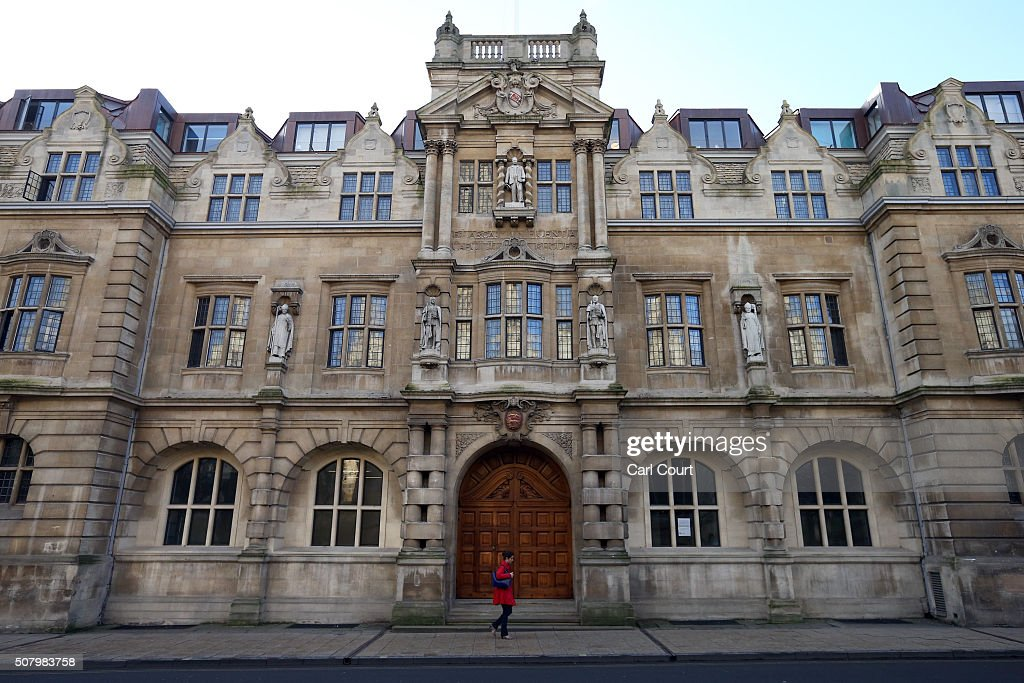 A statue of Cecil Rhodes is displayed on the front of on Oriel College on February 2 2016 in Oxford England Oriel College has decided to keep its...