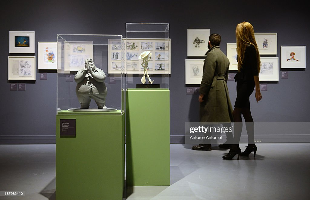 A statue of character Al from the film Toy Story 2 sit on display at 'Pixar, 25 years of Animation' exhibition on November 14, 2013 in Paris, France. The Art Ludique Museum will open its doors on November 16 with the Pixar exhibition.