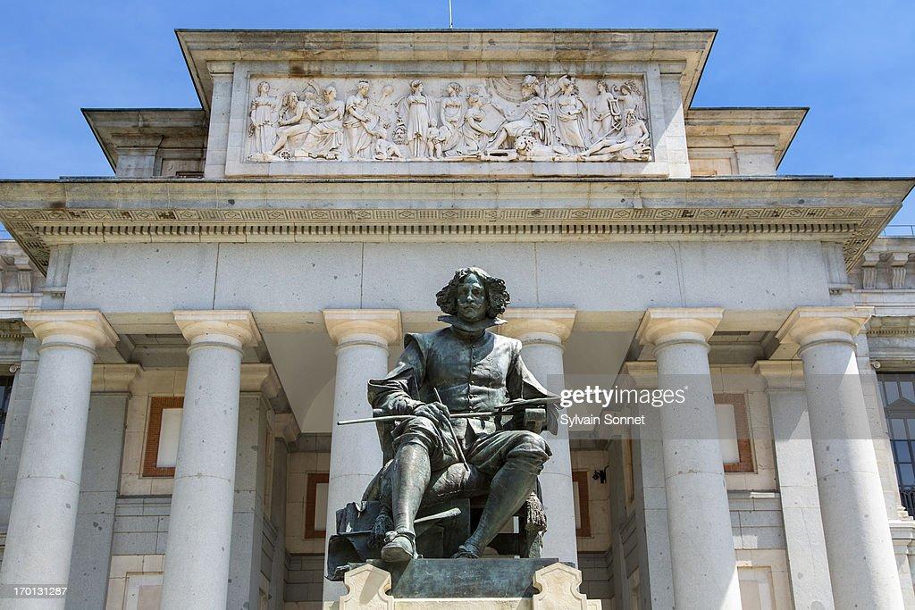 Statue of Diego Velazquez in Museo del Prado