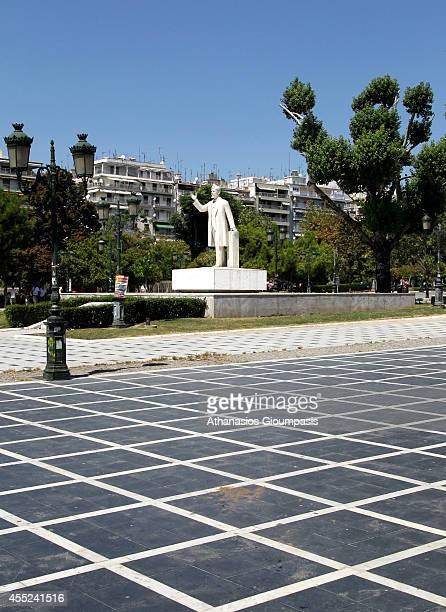 Statue of Eleftherios Venizelos at the Upper part ot the Aristotelous Square on August 19 2014 in Thessaloniki GreeceEleftherios Venizelos was an...