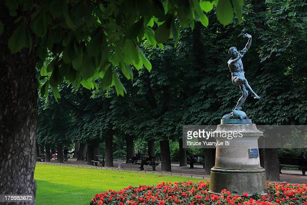 Statue of Faun Dancing in Luxembourg Gardens